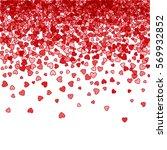 red pattern of random falling... | Shutterstock .eps vector #569932852
