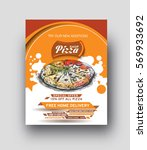 pizza shop flyer   poster... | Shutterstock .eps vector #569933692