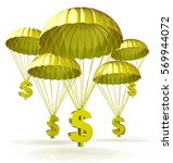 golden parachutes. dollar signs ... | Shutterstock . vector #569944072