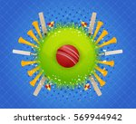 cricket concept background ... | Shutterstock .eps vector #569944942