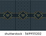 vintage pattern on black... | Shutterstock .eps vector #569955202