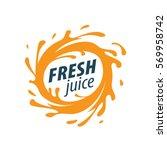juice splash vector sign | Shutterstock .eps vector #569958742