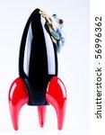 spaceship in frog | Shutterstock . vector #56996362