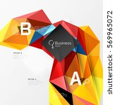 colorful triangle mosaic 3d... | Shutterstock .eps vector #569965072