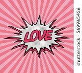 declaration of love pop art ... | Shutterstock .eps vector #569965426