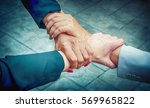 business group with hands... | Shutterstock . vector #569965822