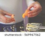 closeup of a pair of hands... | Shutterstock . vector #569967562