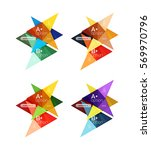 vector colorful arrow option... | Shutterstock .eps vector #569970796