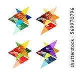 vector colorful arrow option... | Shutterstock .eps vector #569970796