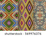 set of 3 abstract patterns.... | Shutterstock .eps vector #569976376