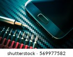 mobile phone repair and upgrade.... | Shutterstock . vector #569977582
