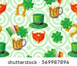 irish st. patrick's day party... | Shutterstock .eps vector #569987896