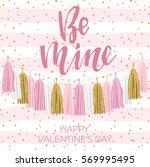 lettering valentine's day... | Shutterstock .eps vector #569995495
