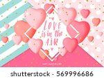 happy valentine's day card... | Shutterstock .eps vector #569996686