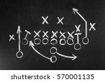 scheme of football game on... | Shutterstock . vector #570001135