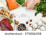 high protein food. healthy... | Shutterstock . vector #570006358