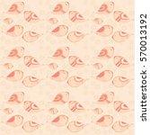 birds on a field of flowers ... | Shutterstock . vector #570013192