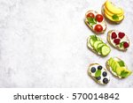 assortment of fruit and... | Shutterstock . vector #570014842