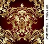 Gold Baroque Ornaments. Antiqu...