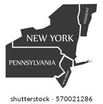 vermont   new york  ... | Shutterstock .eps vector #570021286