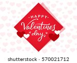 vector illustration  romantic... | Shutterstock .eps vector #570021712