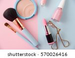 colorful makeup blue and pink | Shutterstock . vector #570026416