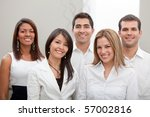 group of business people at the ... | Shutterstock . vector #57002816