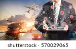 smart technology concept with... | Shutterstock . vector #570029065