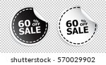 sale sticker. sale up to 60... | Shutterstock .eps vector #570029902
