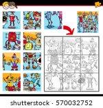 cartoon illustration of... | Shutterstock .eps vector #570032752