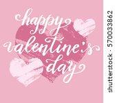 hand paint vector heart... | Shutterstock .eps vector #570033862