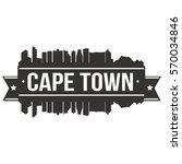 cape town skyline stamp... | Shutterstock .eps vector #570034846