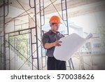 architect  engineer  project... | Shutterstock . vector #570038626