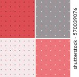 set of seamless textures with a ... | Shutterstock .eps vector #570039076