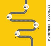 infographic template road... | Shutterstock .eps vector #570046786