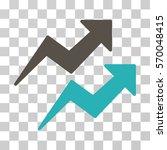 trends icon. vector... | Shutterstock .eps vector #570048415