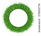 green grass frame. white circle ...   Shutterstock . vector #570053776