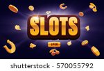 777 slots 3d element isolated... | Shutterstock .eps vector #570055792