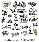 collection of hand drawn... | Shutterstock . vector #570063088