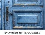 Cobalt Blue Painted Aged Worn...