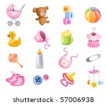 set of toys and accessories for ... | Shutterstock .eps vector #57006938