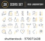 set vector line icons  sign and ... | Shutterstock .eps vector #570071638