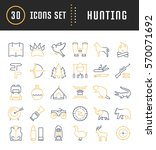 set vector line icons  sign and ... | Shutterstock .eps vector #570071692