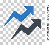 trends icon. vector... | Shutterstock .eps vector #570075958