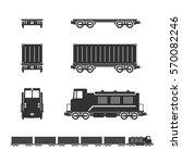 vector of railroad... | Shutterstock .eps vector #570082246
