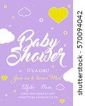 cute invitation cards design... | Shutterstock .eps vector #570094042