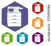 multipurpose device  fax ... | Shutterstock .eps vector #570099586