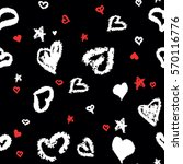 seamless pattern with stylized... | Shutterstock .eps vector #570116776