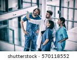 surgeons  doctor and nurse... | Shutterstock . vector #570118552