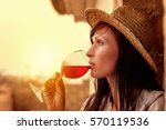 italy france spain rustic wine... | Shutterstock . vector #570119536